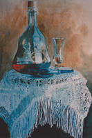 Decanter, Table cloth in Lace by kya-azar