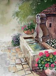 A Fontaine by kya-azar