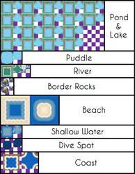 B-W Water Tiles by UltimoSpriter