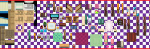 Random Interiors Tileset by UltimoSpriter