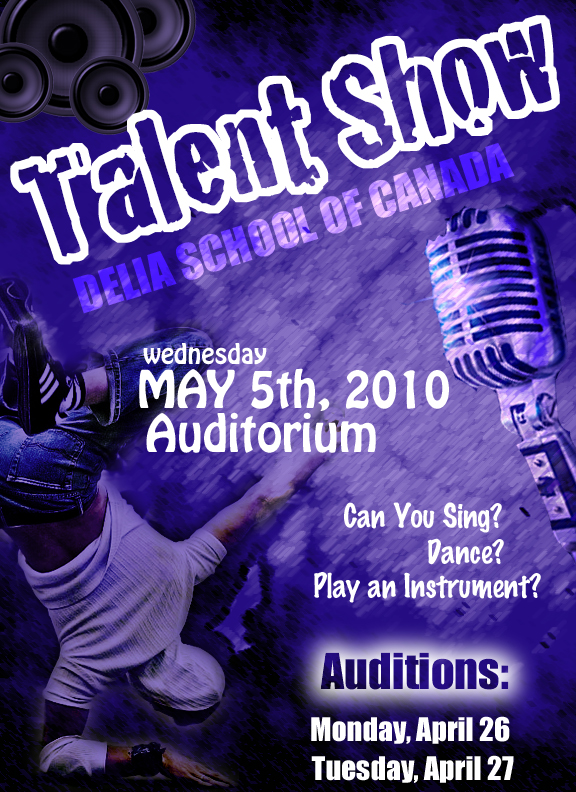 Talent Show Poster by itsnotoverJess on DeviantArt
