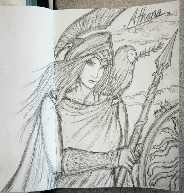 Athena Goddess Of Wisdom And Battle Strategy By Jodie Yu
