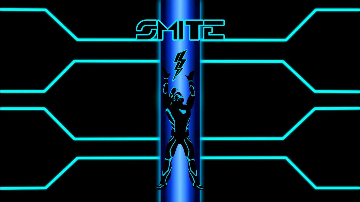 Smite/Tron Wallpaper by BarefootDesign