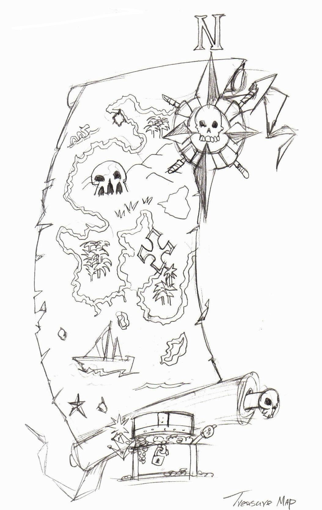 Treasure Map Tattoo By Evergreen Academy On DeviantArt