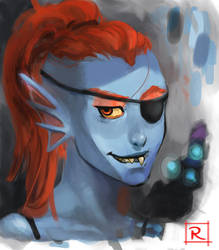 Quick Paint - Undyne by redtiebear