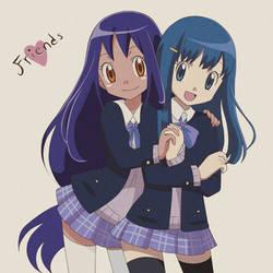 Hikari and Iris by KurumiErika