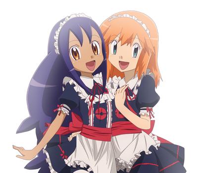 Iris and Misty Maid ~ by KurumiErika