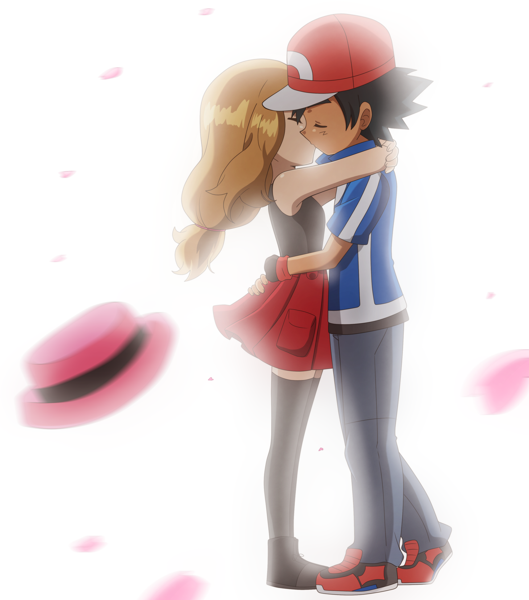 pokemon ash and serena kiss car interior design