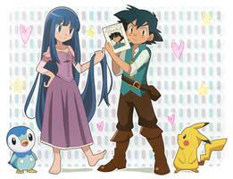 CM: ju-shaoran ~  Eugene  and Rapunzel by KurumiErika