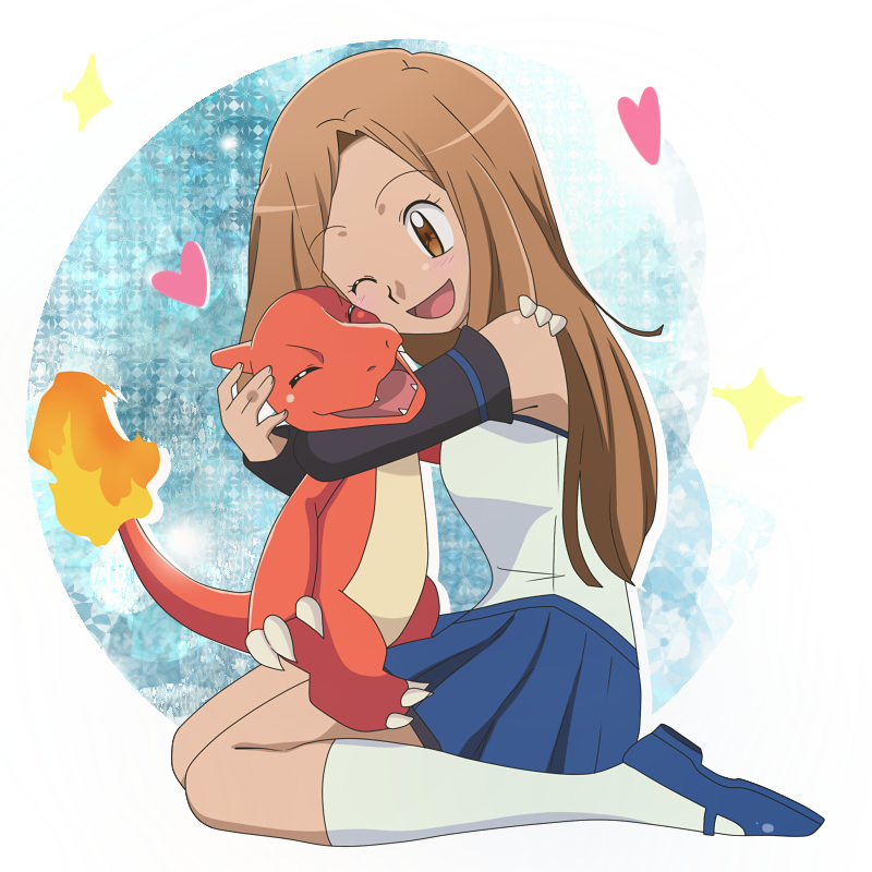 CM: Dav027 ~ Naomi and charmeleon by KurumiErika