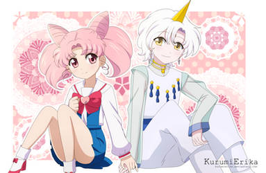 Chibiusa and Helios ~ by KurumiErika