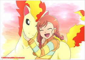 CM: shely131: ~ Miriam and Ponyta ~ by KurumiErika