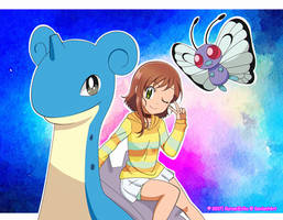 CM: shelly131: ~ Miriam and Lapras ~ by KurumiErika