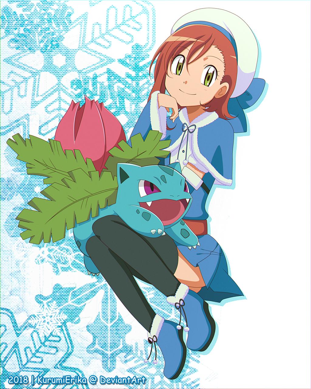 CM: Shelly131 ~ Miriam and Ivysaur by KurumiErika