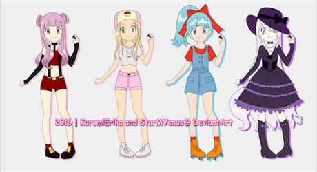 POKEMON ADOPTABLES ~ GIRLS ~ OPEN!~ by KurumiErika