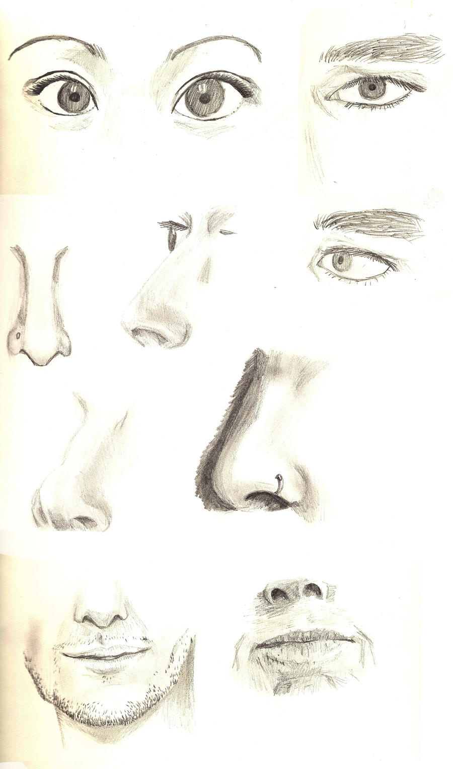 Hardly interpreting drawings facial features