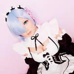 Rem from Re:Zero cosplay by alittledin0 by alittledin0