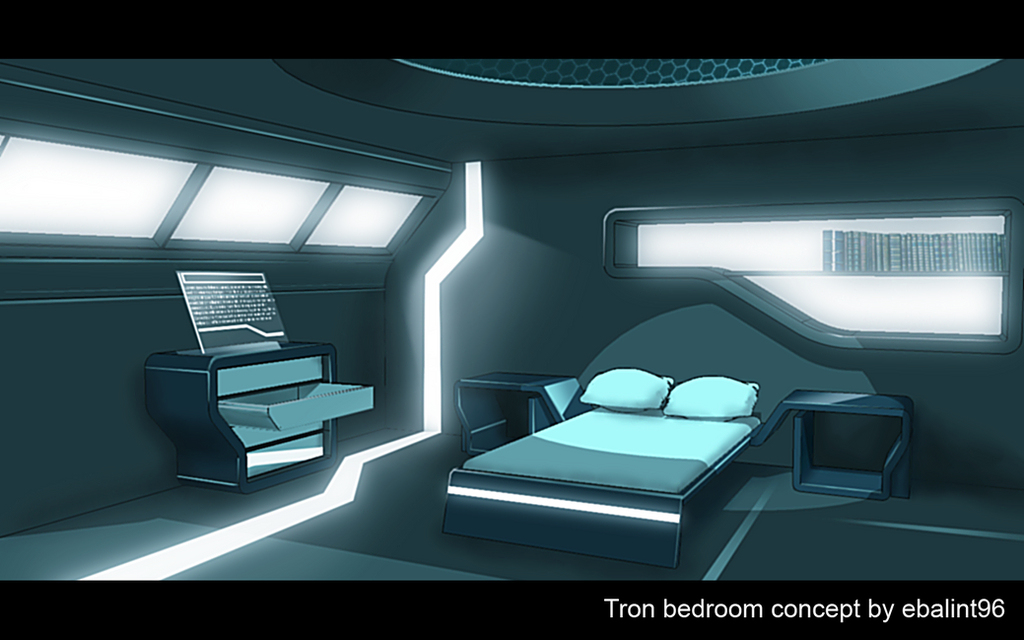 Tron bedroom concept art by ebalint96 on deviantart - Fantastic modern architecture in futuristic design with owner passion ...