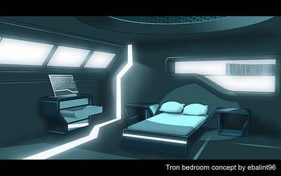 Tron bedroom concept art by ebalint96