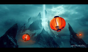 Dreamland of the Samurais (Matte painting) by ebalint96