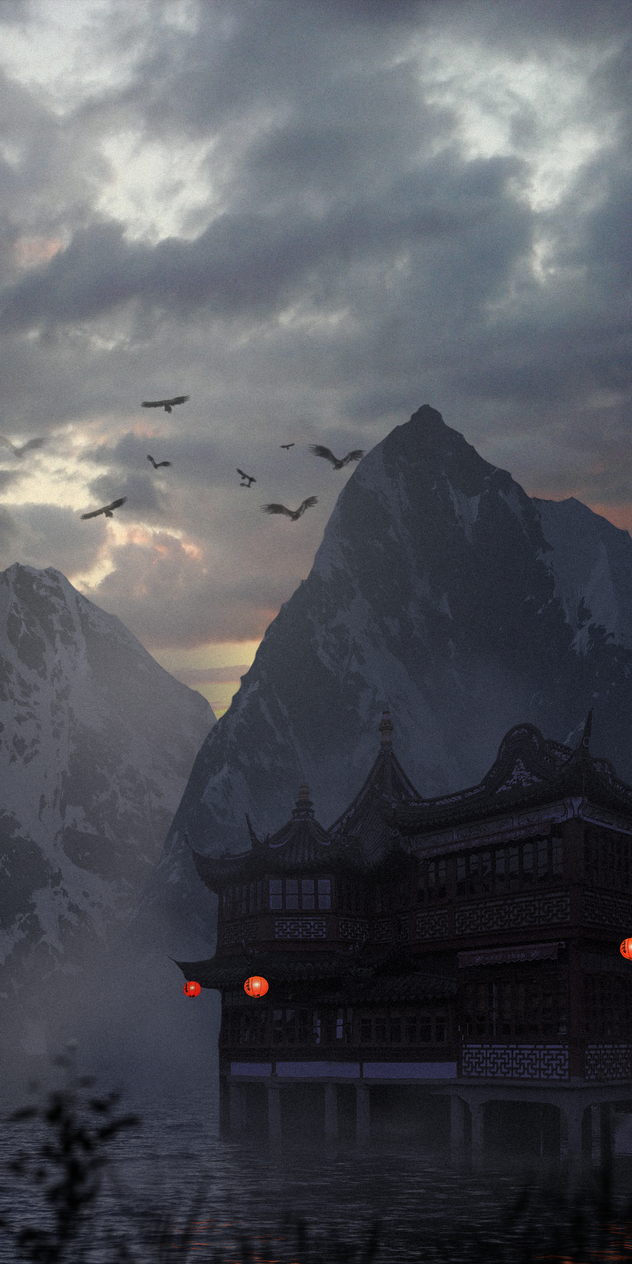 Dreamland of the Samurais II. (Matte painting) by ebalint96