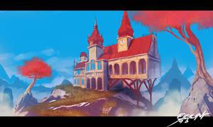Fantasy Mountain Castle