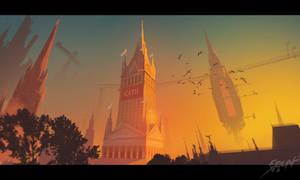 Gothic fantasy city