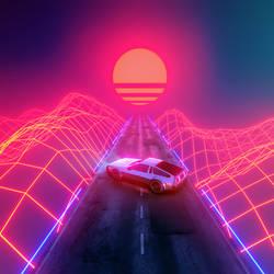 DeLorean in the Sunset