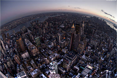 Dawn over NYC by danielglauser