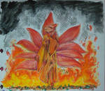 [Traditional Art] Fiery Kitsune by HachiDQueen