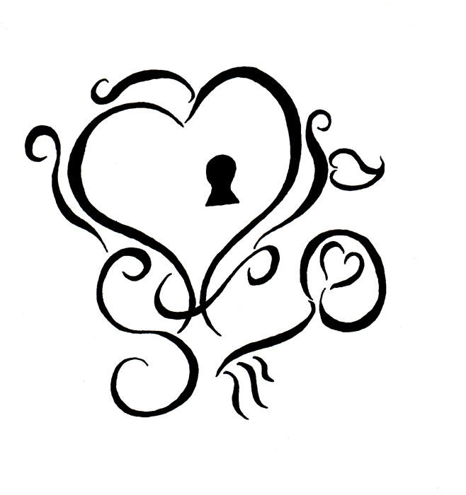 Heart With Flowers Tattoo Designs
