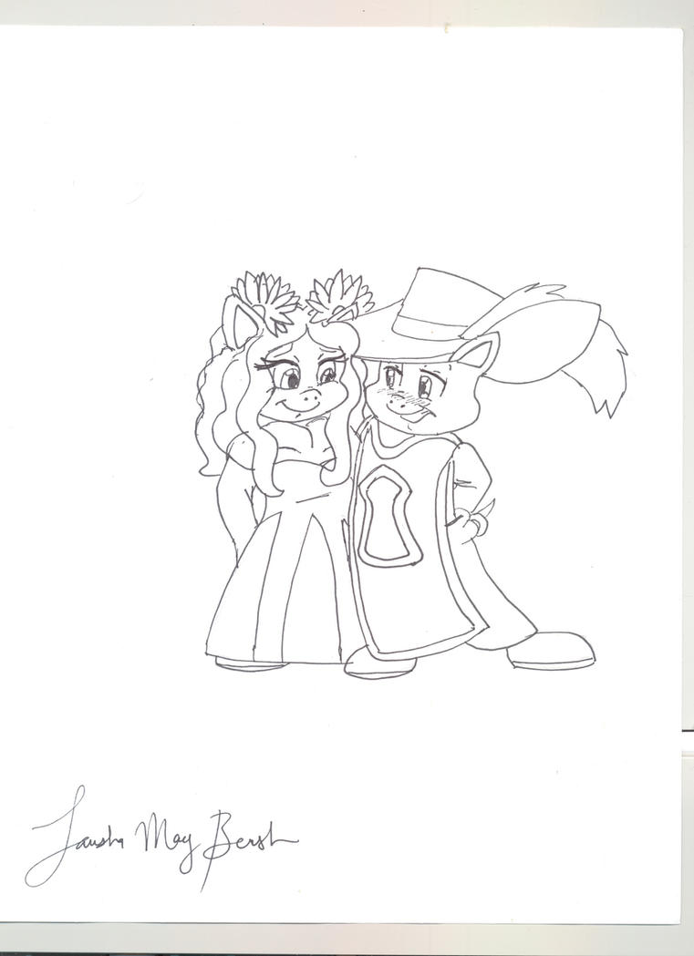 Porky And Petunia PIg Looney Tunes 3 Musketeers By LoonataniaTaushaMay