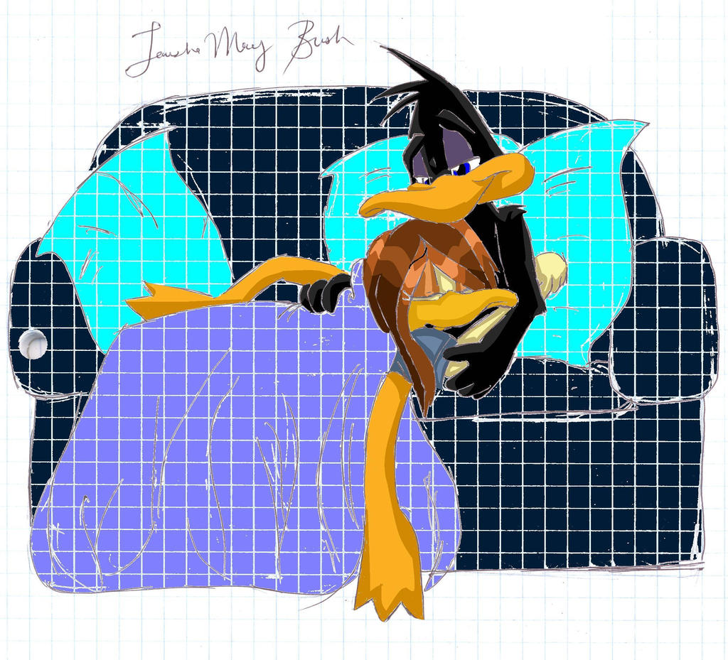 Daffy and Tina cuddle ... Daffy Duck And Tina Duck