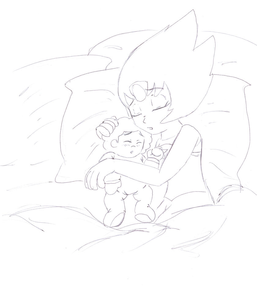 Pearl and Baby Steven_Steven Universe by LoonataniaTaushaMay
