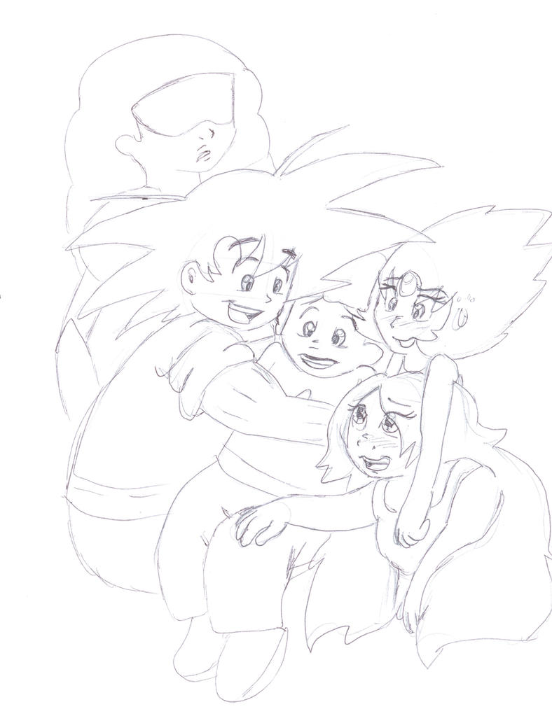 Goku and the Gems_Steven Universe_DragonBall Z by LoonataniaTaushaMay