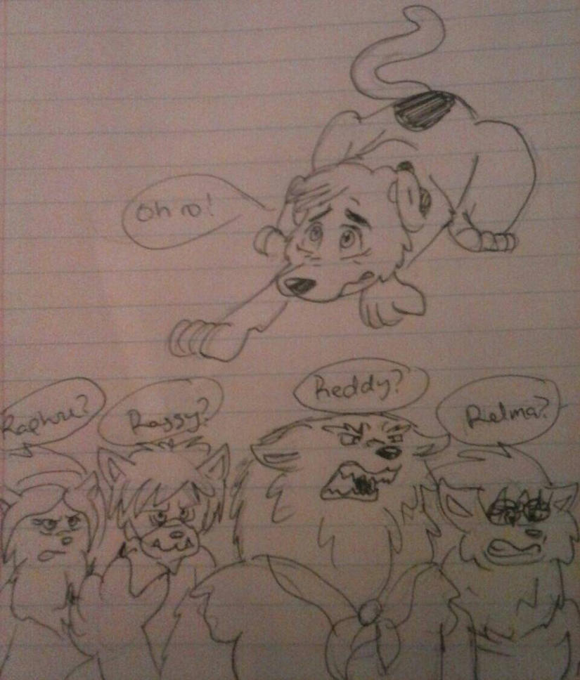Scooby-Doo_Mys. Inc Werewolves surrounding Scooby by LoonataniaTaushaMay