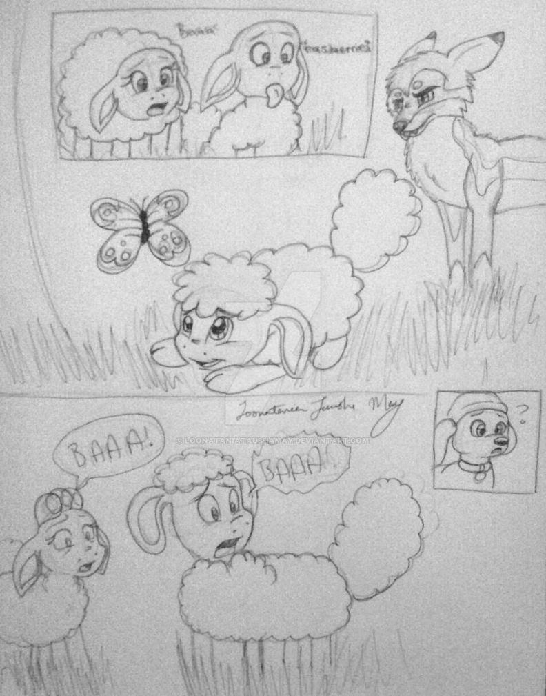 Baby Shaun the Sheep_Danger Ahead by LoonataniaTaushaMay