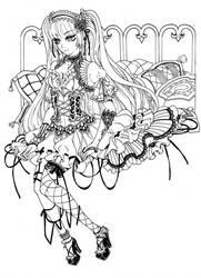gothic loli sketch by BerryKuro