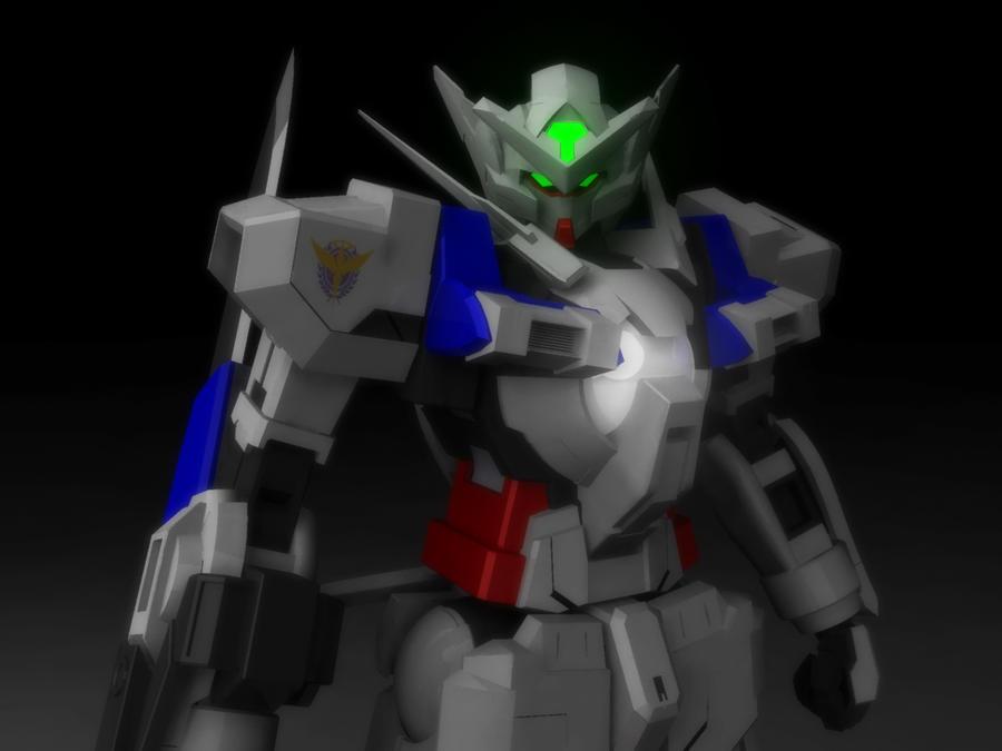 GundamAstraea_test render by ZhangZhang83