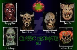 Shamrock Studios Classic Decimate Masks: Vol.1