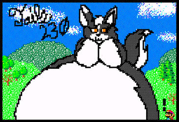 Nevah drawn in Mario Paint Challenge by Tails230