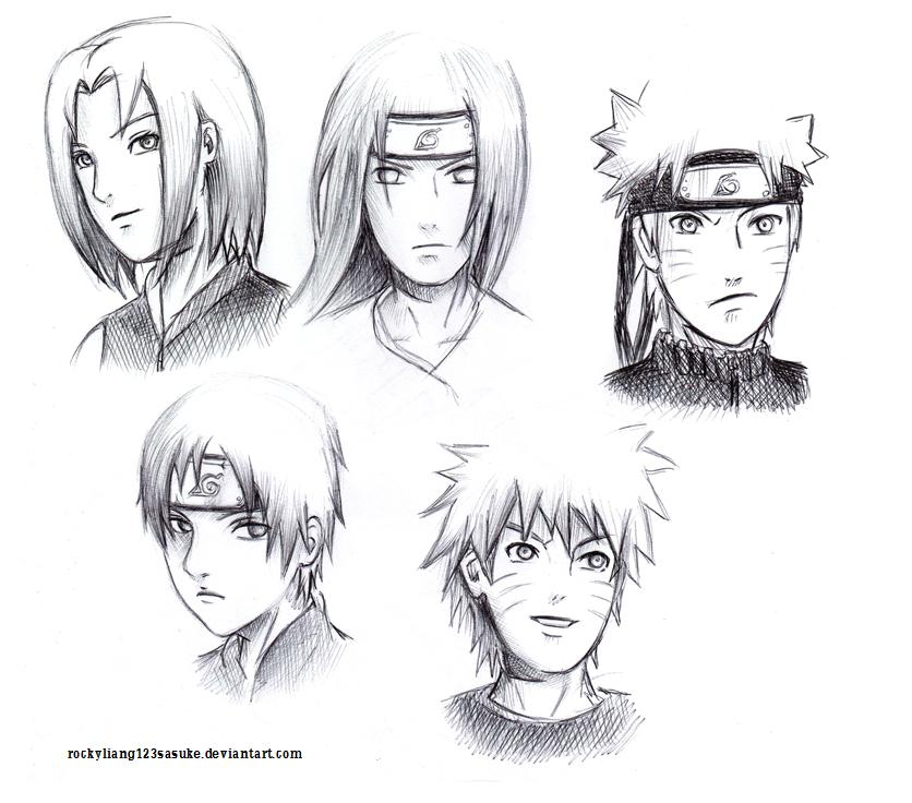 Naruto Drawings Of Naruto Characters 56446 Loadtve