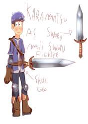 Karamatsu As Mii Swordfighter