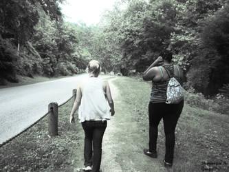 Walking Quietly Along