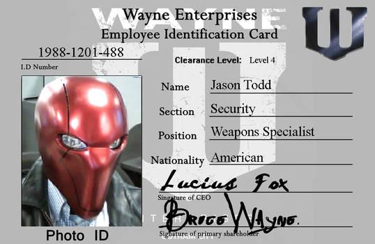 Wayne Enterprises ID Card - Red Hood