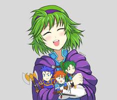 Nino with mini FE7 Lords by Willanator93