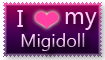 I heart my Migidoll stamp by LifeWithARedhead