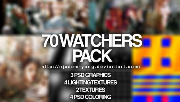 NJXAEM's 70 Watchers  Pack by njxaem-yong