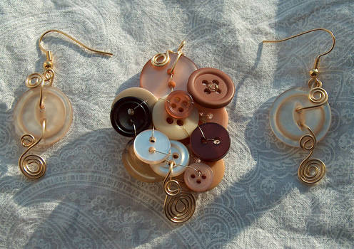 wire set 8 earthtone buttons