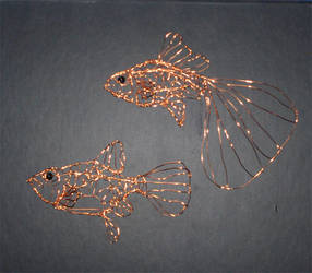 Wire Guppies by Kimantha333